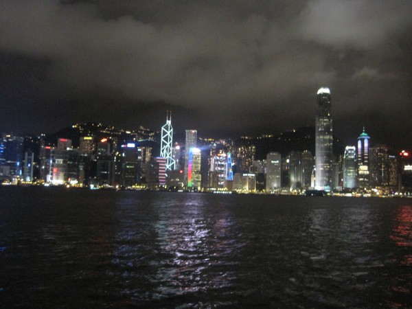 Hong Kong island at night. Taken from Kowloon in July, 2012.