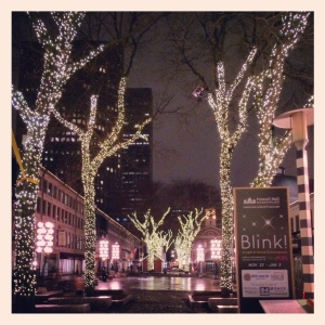 Pretty lights in Faneuil Hall, Boston